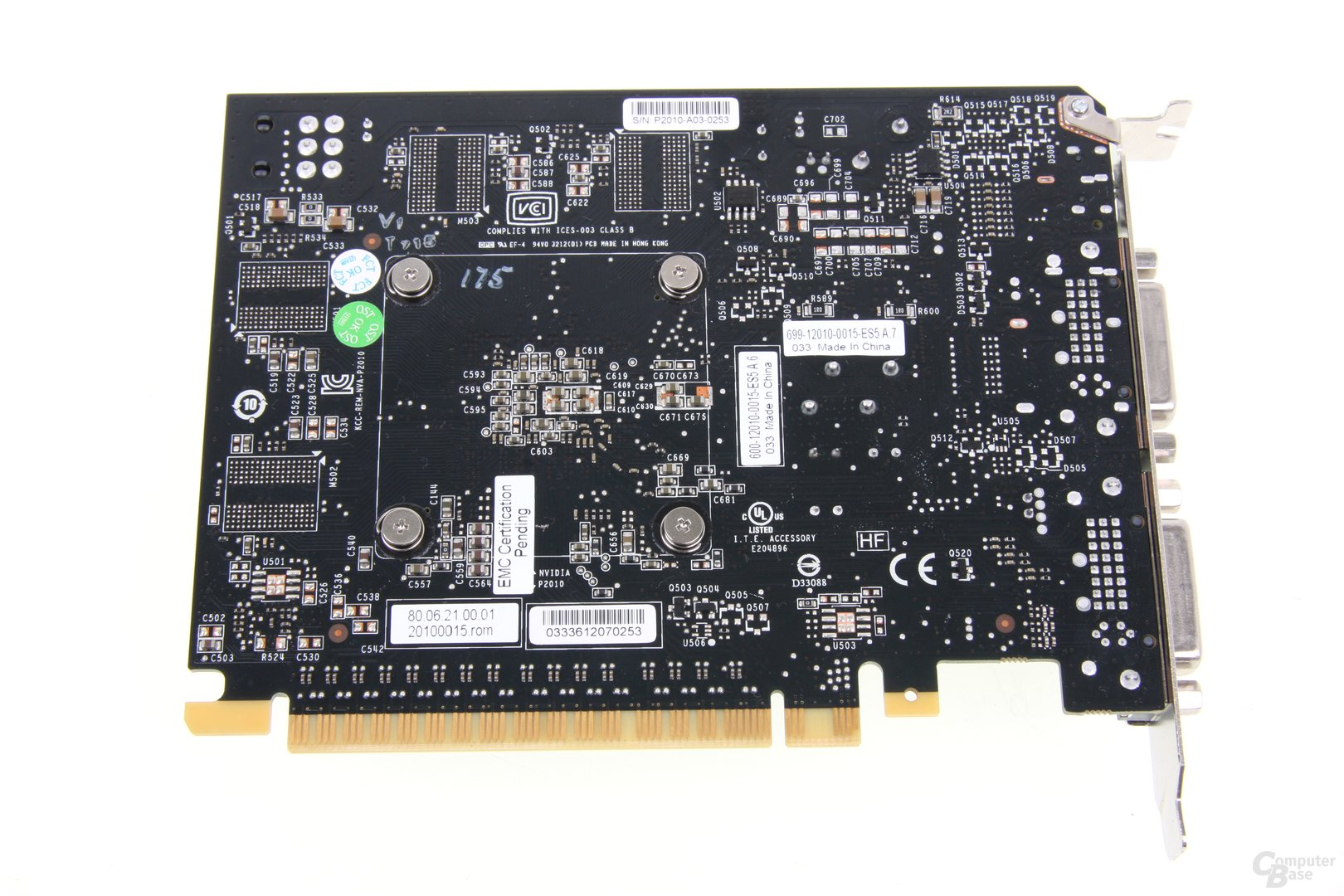 GeForce GTX 650 Ti Rückseite