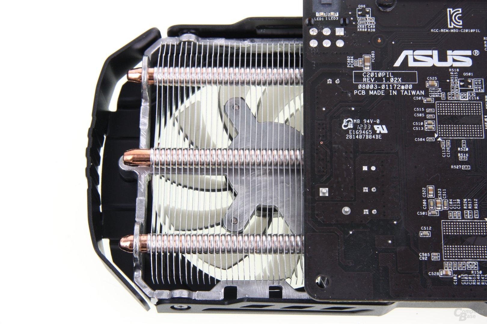 GeForce GTX 650 Ti TOP überstehender Kühler