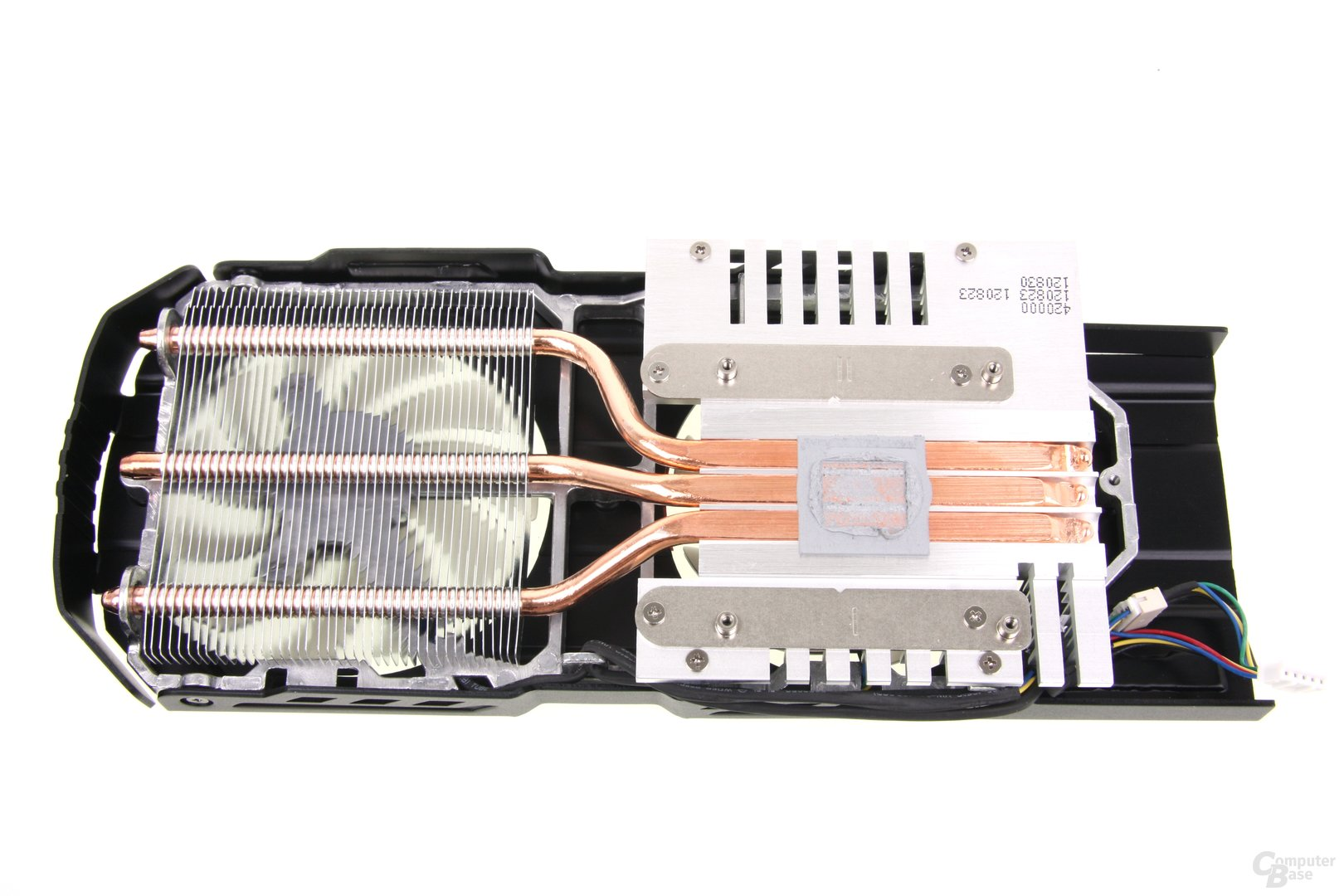 GeForce GTX 650 Ti TOP Kühlerrückseite