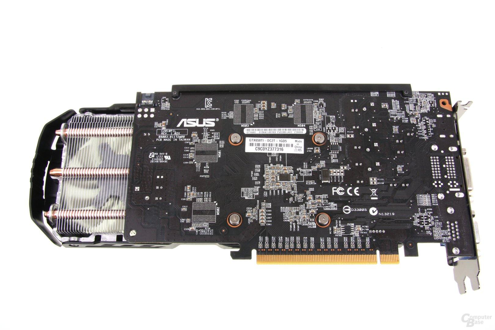 GeForce GTX 650 Ti TOP Rückseite