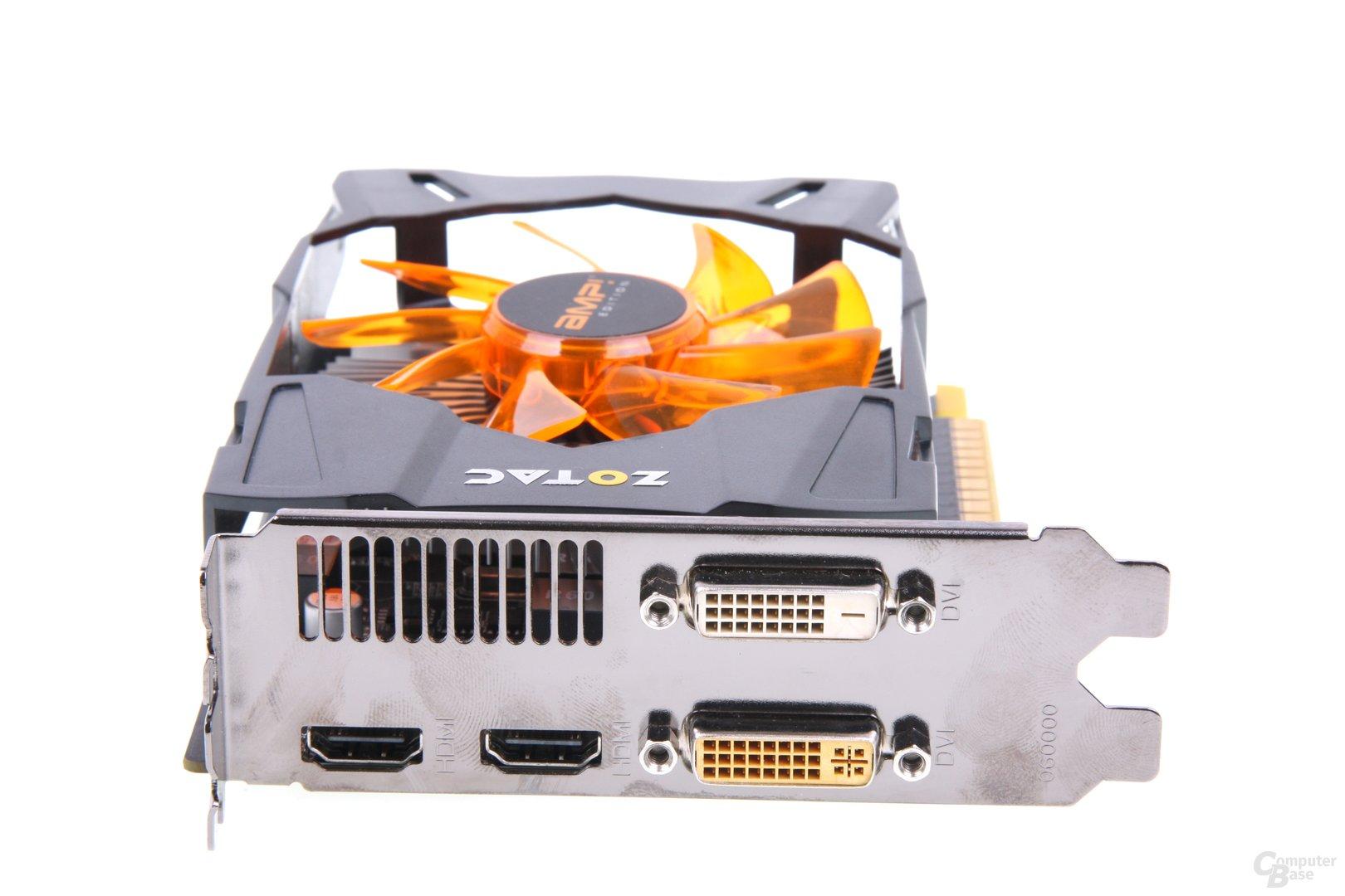 GeForce GTX 650 Ti AMP! Slotblech