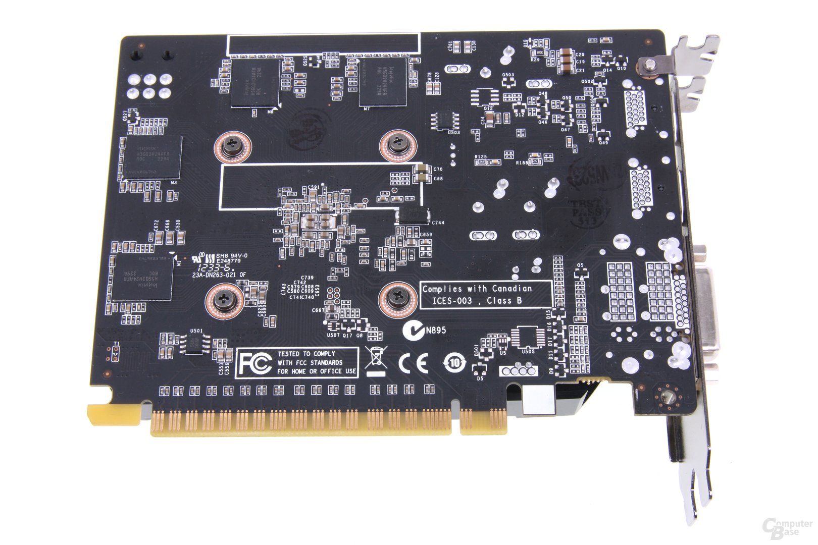 GeForce GTX 650 Ti AMP! Rückseite