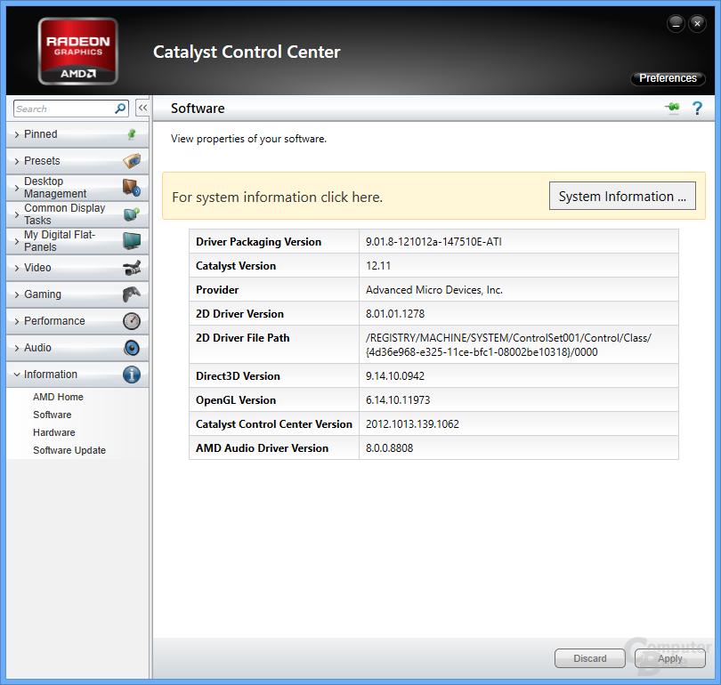 AMD-Treiber für Windows 8