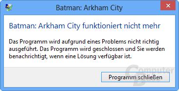 Fehlermeldung Batman
