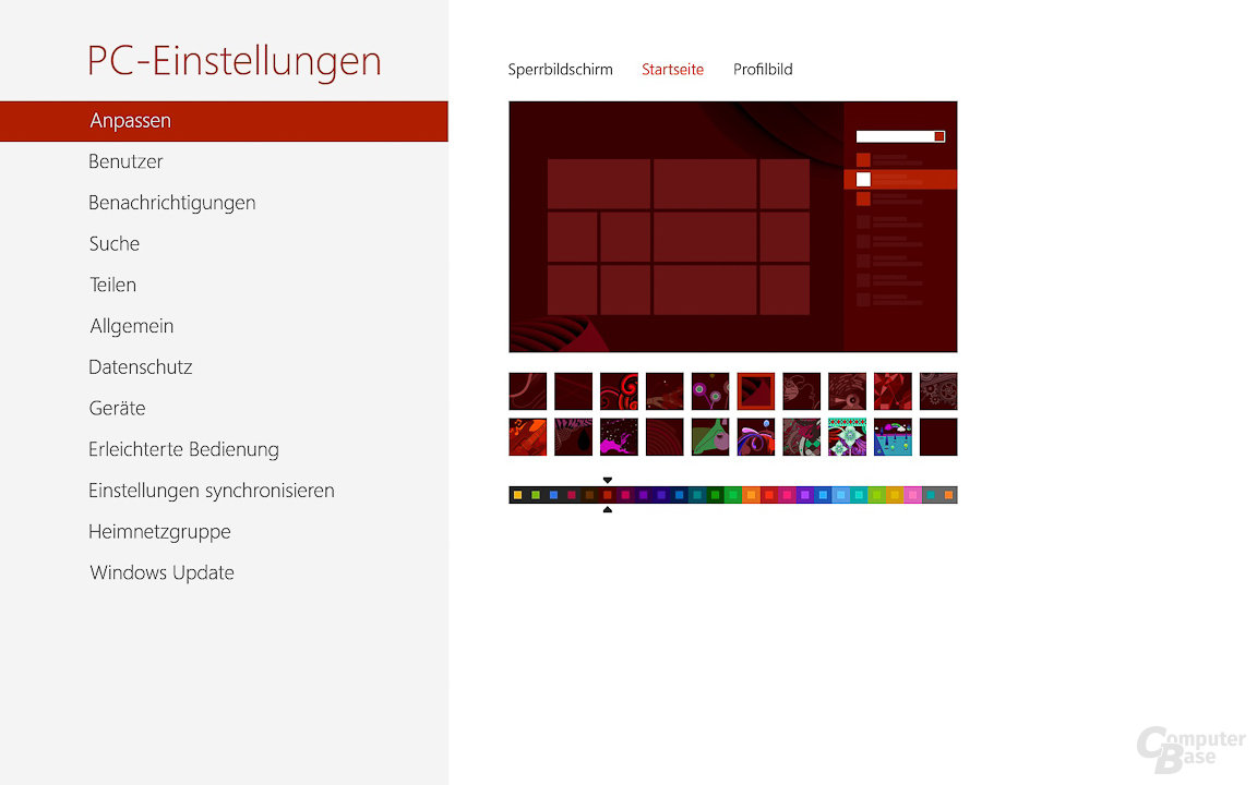 Windows 8: PC-Einstellungen