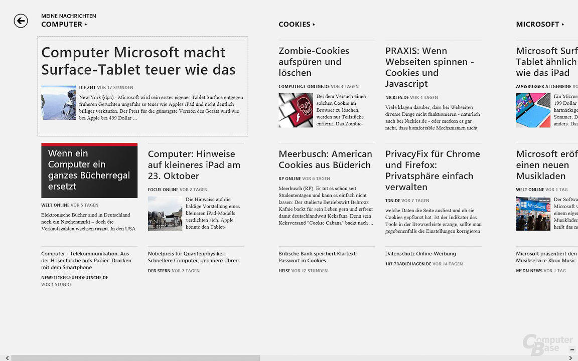Windows 8: News-App