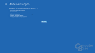 Windows 8 Startoptionen