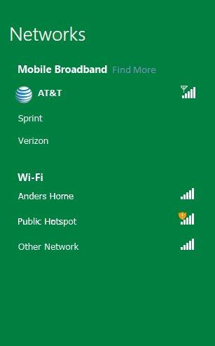 Auswahl verfügbarer Mobilfunknetzwerke
