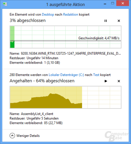 Verbesserte Kopierfunktion im Windows Explorer in Windows 8