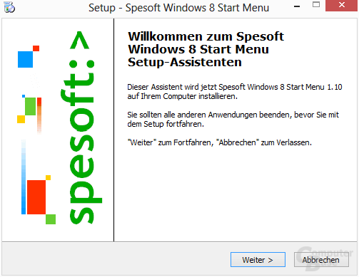 Spesoft Free Windows 8 Start Menu – Installation
