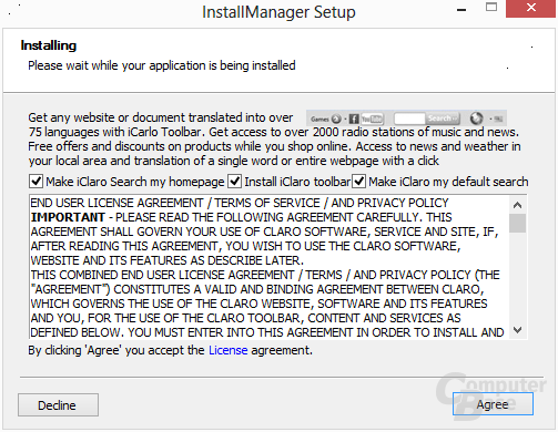 ViStart – Adware bei Installation