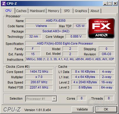 AMD FX-8350 im Idle