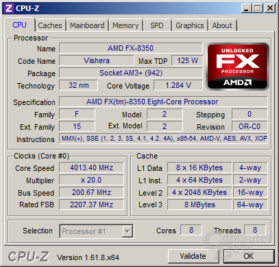 AMD FX-8350 - volle Last mit Turbo