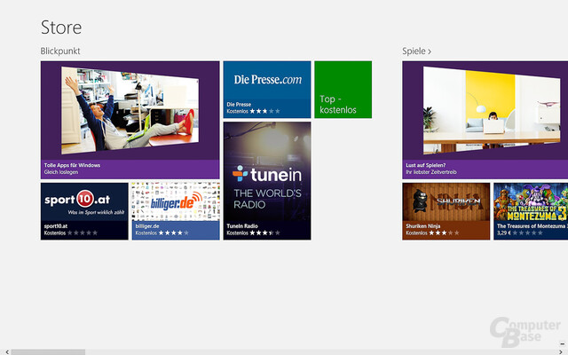 Windows 8: App-Store