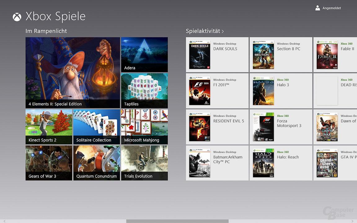Windows 8: Spiele-Marktplatz