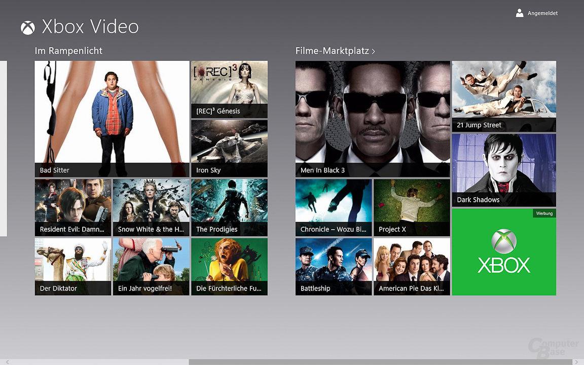 Windows 8: Video-Store