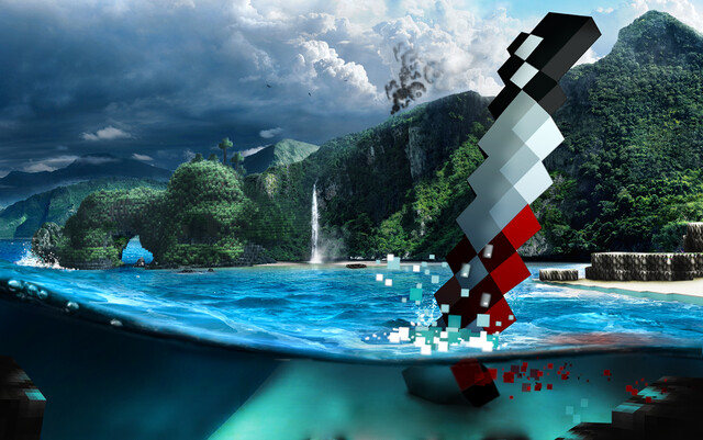 Far Cry 3 im Minecraft-Stil