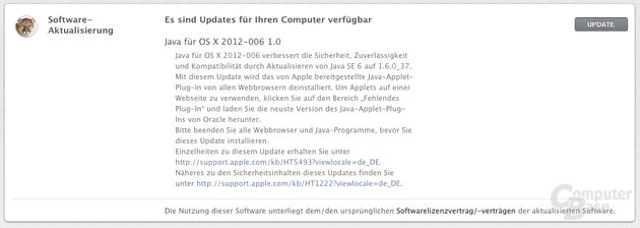 Java Update OS X 2012-006 1.0