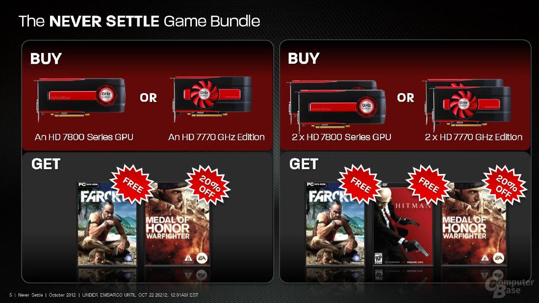 AMD Radeon HD 7000 Spiele-Bundle