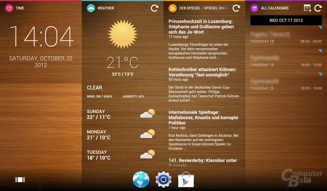 Alternativer Screen