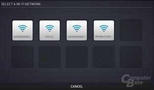 Wechsel per WiFi - Auswahl