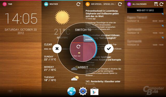 Alternativer Screen beim Umschalten