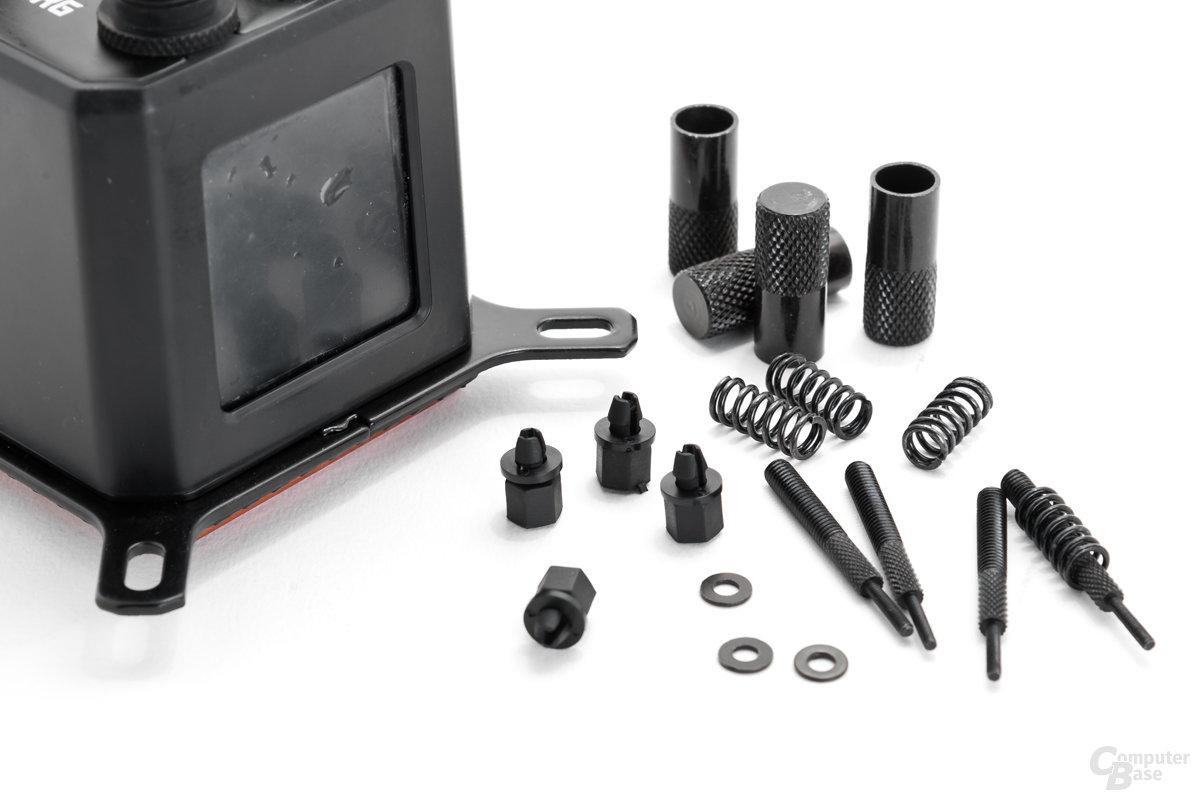 Federschrauben-Zubehör und Push-Pins zur Intel-Montage