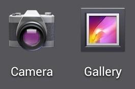 Alte Kamera- und Galerie-Icons