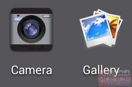 Neue Kamera- und Galerie-Icons