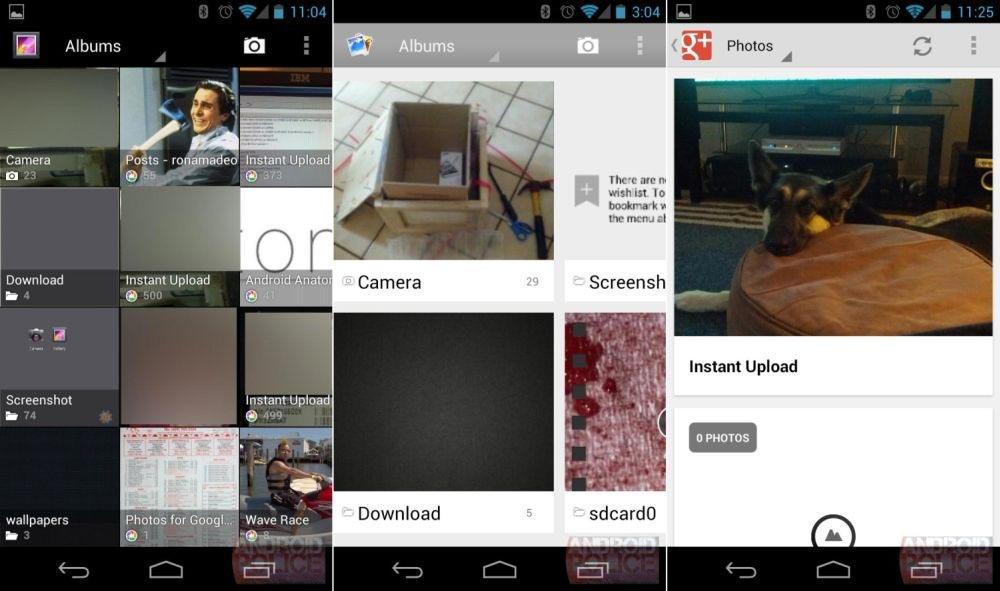 Aktuelle Galerie - neue Galerie ab Android 4.2 - Google+-Übersicht