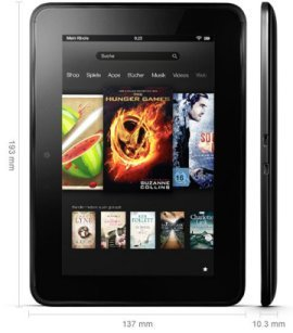 Amazon Kindle Fire HD Abmaße