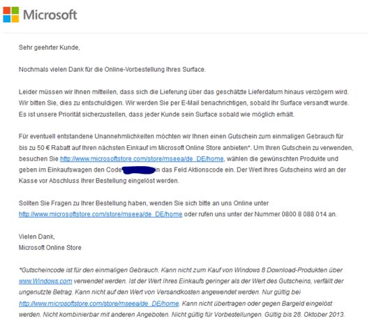 E-Mail von Microsoft