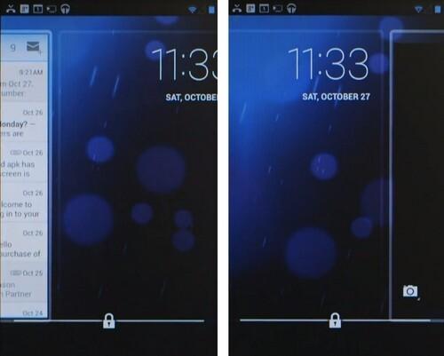 Lockscreen mit neuen Funktionen