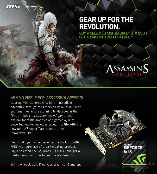 MSI Assassin's Creed 3