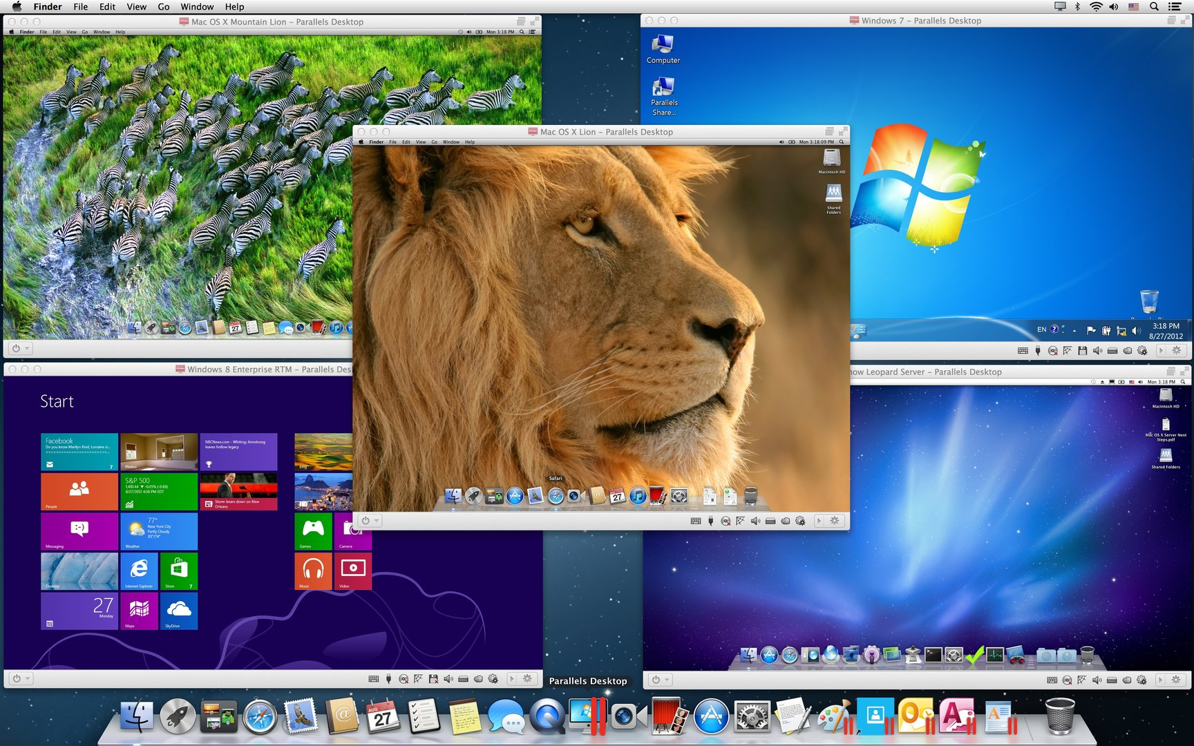 Windows und Mac OS X auf Mac mit Mac OS X Mountain Lion