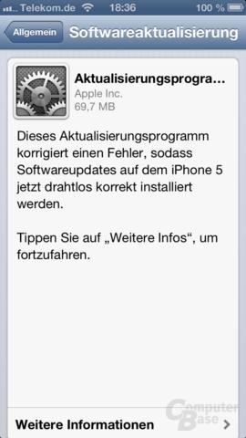 Update auf iOS 6.0.1