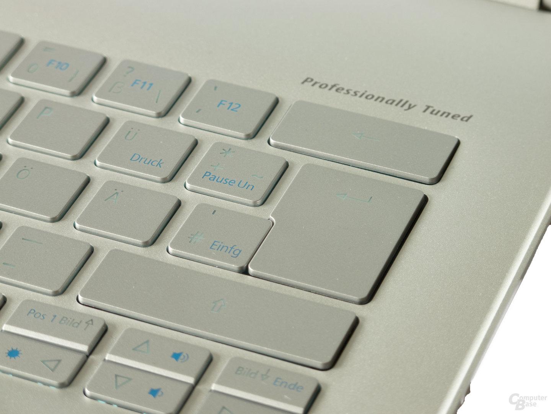 Tastatur mit gutem Druckpunkt und Beleuchtung