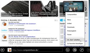 Erstellen der ComputerBase-Kachel unter Windows 8