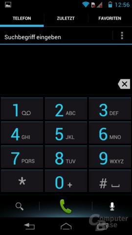Motorola RAZR i Oberfläche