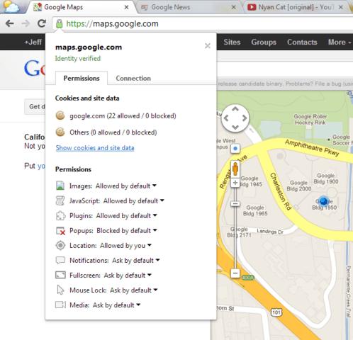 Neue Optionen in Google Chrome 23