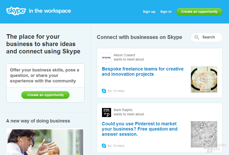 Skype in the workspace