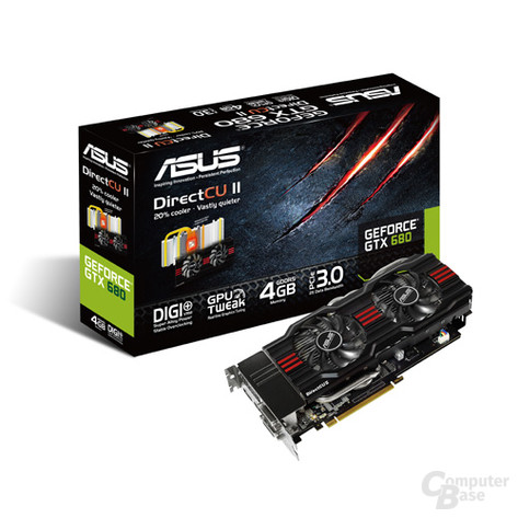 Asus GeForce GTX 680 mit 4.096 MB