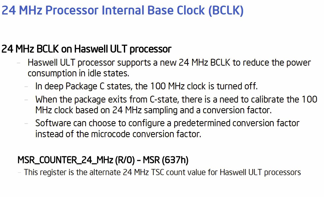 "Absenkung des BCLK bei ""Haswell-ULT"""