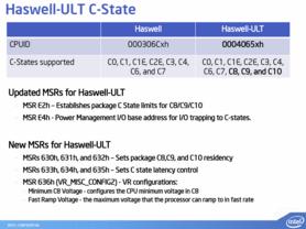 """Neue Stromsparmodi von """"Haswell-ULT"""""""