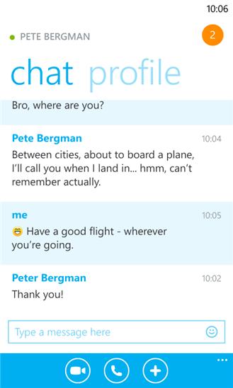 Skype für Windows Phone 8
