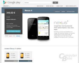 Nexus 4 auf Lager