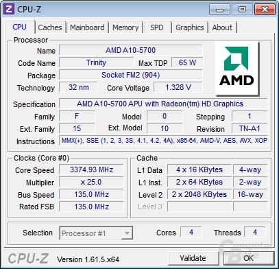 BCLK auf 135 MHz und Multiplikator abgesenkt