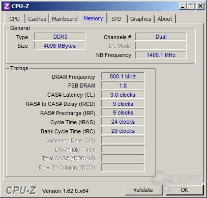 Speichertakt des AMD A4-5300