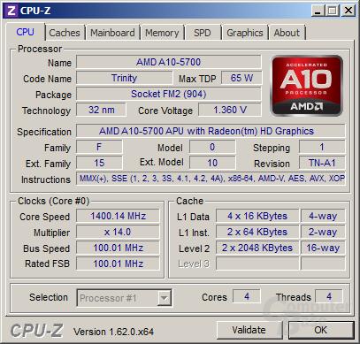 AMD A10-5700 im Idle