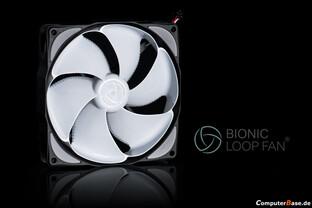 Wirklich leise: Noiseblocker Bionic-Loop-Fan
